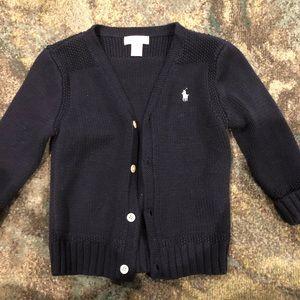 Ralph Lauren Navy Blue Sweater - 24 months